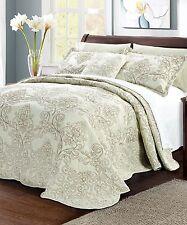 Serenta Damask 4 PCs Bedspread Quilt Set Coverlet Bed in a Bag