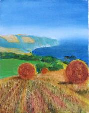 HAYSTACKS Impressionist Finger Lakes Landscape SCENE Original Art Oil Painting