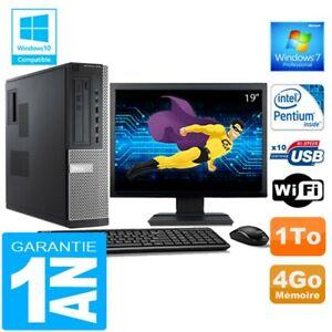 """PC DELL 7010 DT Intel G840 Ram 4Go Disque 1 To Wifi W7 Ecran 19"""""""