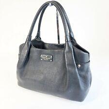 Kate Spade Black Pebbled Leather Berkshire Road Stevie Satchel Hand Bag Womens