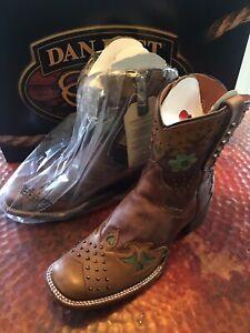 Dan Post, Sundance Catalog,  'Desert Rose' Leather Boots, Brown, Size 10, NWT