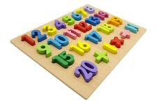 Colourful Number Wood Puzzle Child Functional Mathematical Skill Training Toy