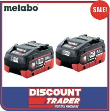 Metabo 18V 8.0Ah LiHD Lithium-Ion Twin Battery Pack 2x 8Ah Batteries AU32102800