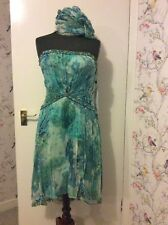 Evening Party Cocktail Beaded Dress 12 Cruise Glamour Strapless Or Shoestring