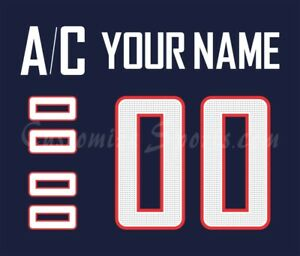 WCH Team USA Customized Number Kit for 2017 Navy Jersey