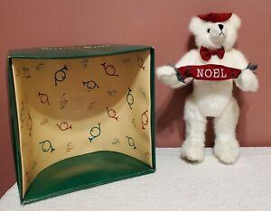 "Mary Meyer Green Mountain Bears, Seventh Avenue, Noel Bear, 1994, 11"" tall, MIB"
