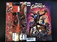 Absolute Carnage #5 Lot (4) — A + Lim + Action Figure + Hotz Conn. Variant — NM