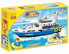 Woma Sea Yacht Hochsee mit Beiboot  Bausteine Set 420 Teile J5648A