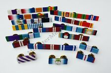 More details for military &  emergency service made to order custom ribbon bars (pin on stud)