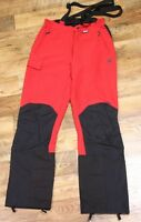 SALEWA DURA Stretch Cordura Ski Salopettes Trousers Pants Red Black UK 10 / M