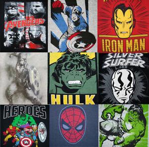 Marvel Comics Herren T-Shirt Hulk, Silver Surfer, Avengers, Captain America,
