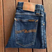 Nudie Jeans Size W26 Tight Long John Blue Skinny Casual