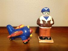 Oci Fitz & Floyd Airplane & Aviator Salt & Pepper Shakers