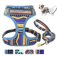 Brustgeschirr Hundegeschirr mit Leine Weiches Geschirr für Hunde Reflektierend