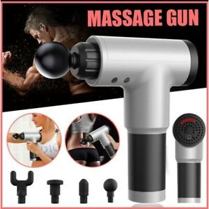 6-Speed Cordless Rechargeable Fascial Gun Muscle Therapy Massager (random color)