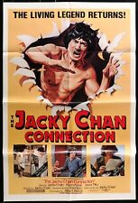 THE JACKY (Jackie) CHAN CONNECTION ORIGINAL 1980's 1 SHEET MOVIE POSTER 27 x 41