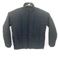 Columbia Sportswear Men's Sz Large Tall Black Quilted Fleece Lined Jacket Coat