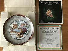 "Collector Wallplate ""Once Upon a Rhyme ""Over The River And Through The Woods"""