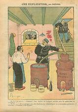 Caricature Politique Aristide Briand Alambic Ministériel Paris 1910 ILLUSTRATION