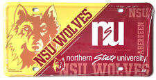 Northern State Wolves NSU NSD410702 Metal Aluminum License Plate Tag University