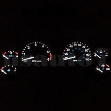 Dash Instrument Cluster Gauge WHITE LEDs LIGHTS KIT Fits 97-06 Jeep Wrangler TJ