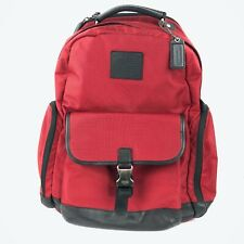 """COACH Voyager Black & Red Full Size 18"""" Padded Laptop Bag Backpack A1360-F70574"""