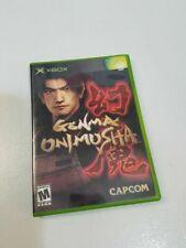 Genma Onjmusha XBOX Video Game Case Book Darkness Magic Sword Fight Shield