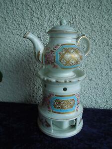 Tisanière ancienne Porcelaine de Paris fleurs et dorures