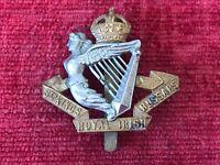 WW1 8th Kings Royal Irish Hussars Bi Metal Cap Badge Genuine British Army 52/6