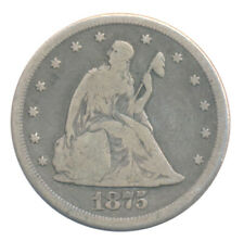 1875 CC Twenty Cent .20c Choice Very Good VG+ Condition Silver Coin Key