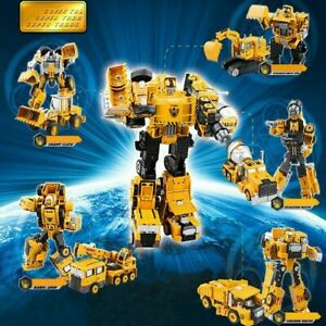 Transfor-mers Engineering Vehicle Armor Deformation Car Robot Toy For Kid