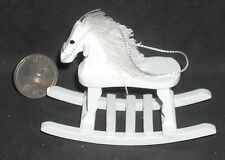 Rocking Horse Wooden White Children Toy 1:12 Cowboy Cowgirl Christmas CLA10375
