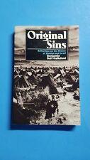 ORIGINAL SINS Benjamin Beit-Hallahmi History Israel Zionism Paperback