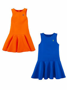 Ralph Lauren Girls Ponte Fit-and-Flare Dress