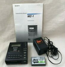 Sony MZ-1 MiniDisc MD Recorder Portable minidisc w/AC Adapter and Instructions