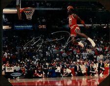 Michael Jordan Signed Photo Silver Ink w/ UDA Hologram & Original UDA Folder