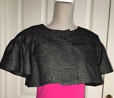 Malene Birger Dk Grey Black Cropped Jacket Top Evening Formal Wear UK10-12