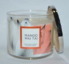 Bath & Body Works Manto Mai Tai Scented Candle 3 Wick 14.5oz Large Jasmine