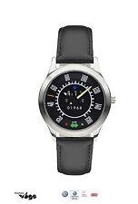 Original VW Armband-Uhr Schwarz, Klassik, Käfer Tacho-Ziffernblatt
