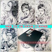 2017 New Tattoo Flash Book Popular Geisha Tattoo Designs Sketchbook 26 pages A4