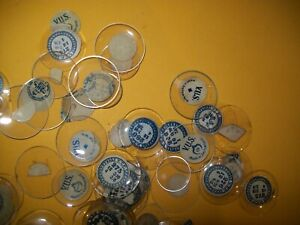 Large lot of Wrist Watch or Small Pocket Watch Crystals - lens - glass.