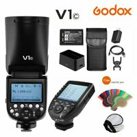 Godox V1C 2.4G TTL HSS Round Head Battery Flash Speedlite + Xpro-C For Canon