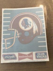 Washington Redskins Bud Super Bowl Season 1991 NFL Window Cling Sticker Mint!