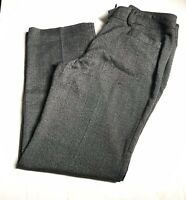 Women's Dress barn Charcoal Gray Straight Leg Flat Front Career Pants Size 12