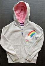 Girls 9-10 MINI BODEN Rainbow Cloud Appliqué Zip Up Hoodie Sweatshirt ~Fall BTS~