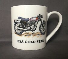 Bone China 18fl Oz BSA Gold Star Motorbike Mug Hand Decorated (Almost A Pint)