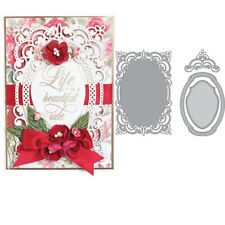 Mirror Frame Stencil Die-Cut Cutting Dies Handmade Photo Album Decor Gift Cards