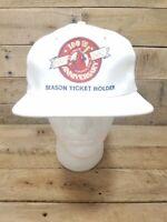ST LOUIS CARDINALS - Vtg 1992 Season Ticket Holder White SnapBack Hat Cap