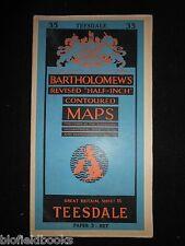 Vintage Ordnance Survey Map of Teesdale, 1956 - Sheet 35 - Stockton, Thirsk, etc