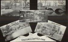 Oakville CT Multi-View c1910 Postcard jrf